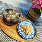 日々ノ珈琲 - アイスコーヒーは「豆家 茜」のお豆さんとおやつに(^^♪