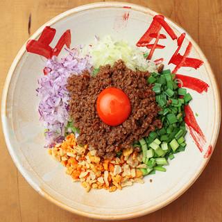 最後はライスダイブで!ガッツリ系汁なし麺、台湾まぜそば