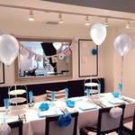 ジンジャーガーデンアオヤマ - 誕生日会やベイビーシャワー等、パーティーに合わせた飾り付けも承ります。詳しくはプライベートパーティープランをご覧下さい