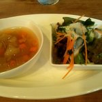 ピッツェリア ポルコ - 冷製スープ&サラダ(2015.8)