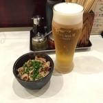 博多祇園鉄なべ - 20150730 酢もつとビール