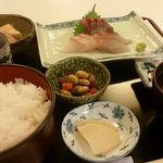浜市 - 刺身3種盛り定食(ご飯大盛り)