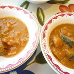インドや  - 料理写真:ドライ/バタチキ・野菜