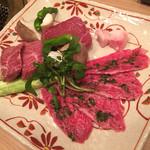 41270628 - トモサンカクハーブ付き、ハラミ、ランプ、野菜
