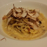 オステリア タナロ - 様々なキノコ ミンチの煮込み タリオーニ 1,400円