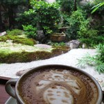 キッサマスター - カフェオレと坪庭1