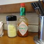 ロメスパキッチン ミカサ - 粉チーズとタバスコ