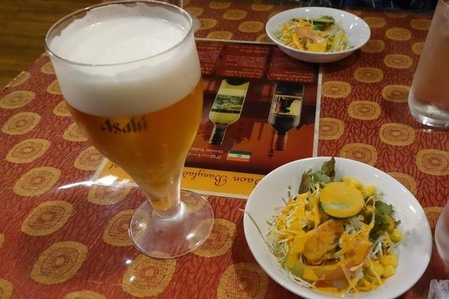 インド&バングラデシュ料理 ショナルガ - ランチ生ビール280円