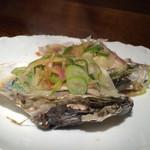 41279061 - 蒸し牡蠣広島産薬味のせ1個350円