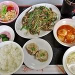 中国料理 紅天樓 - 料理写真:チンジャオロースーセット1280円