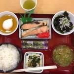 吉備サービスエリア(上り線)フードコート - 朝定食@670