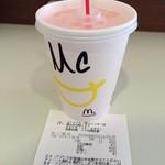 マクドナルド - ドリンク写真:マックフィズ ピンクグレープフルーツ100円(税込)