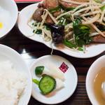 泰陽楼 - レバニラ定食:790円/2015年8月