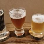 Repas - ドリンク写真:ビール3種飲み比べセット(700円)