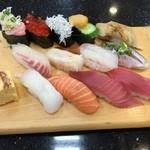 ジャンボおしどり寿司 - 料理写真:満腹Wづくし¥1500。