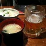 旬席 ふみ - 生ビール