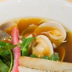 むぎとオリーブ - 鶏・煮干・蛤のトリプルSOBA【2015年8月】