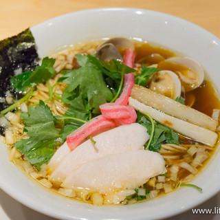 むぎとオリーブ - 料理写真:鶏・煮干・蛤のトリプルSOBA【2015年8月】