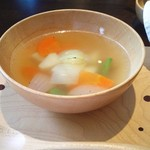 由布院別邸 樹 - 由布院季節野菜のスープ