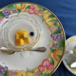 Resutorantoriibira - マンゴープリン ココナッツのソース