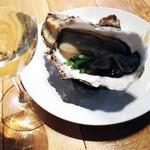 マルシェ・バトン - 2014年ユルベルト 生牡蠣と白ワイン