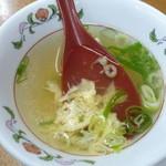 餃子の王将 - 天津炒飯のスープはイマイチ