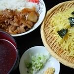 ふぁみりぃ佐藤軒 - ざるラーメン&焼肉めしセット