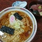 うれしの - ラーメン(大盛)+ミニまぐろ丼セット  790円