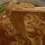 煌蘭 - ふかひれセットのスープそばの麺〔15/8/29撮影〕