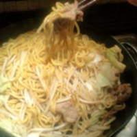 羊や カブト - 西山製麺所発、【焼麺】。ジンギスカンの〆におススメです♪