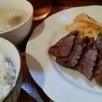 牛たん焼き テル - 厚切り牛たん定食 2015.8