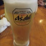 爺爺 - 最初はビール、おやじセットの一部(2015.8.22)