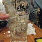 爺爺 - 焼酎3杯目くらい。目分量なので焼酎の量が多い(2015.8.22)