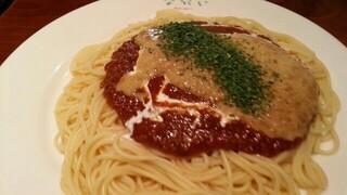 スパゲティながい - 納豆ミート大盛り 2015.8