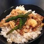 karajishi - むぎごはんの小をいただいて、雑炊風に〜