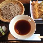 竹やぶ - 天ぷら付き特上そば(1670円)