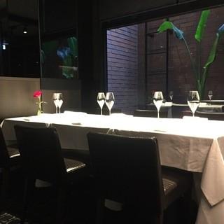 ご接待やご会食に最適なテーブル席