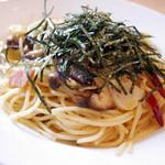 茶房 ヒロシゲ - きのこのスパゲッティ ¥820