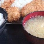 とん喜多 - 盛り合わせC定食 (一口カツ・海老フライ・コロッケ) 1250円