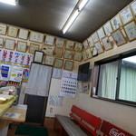 江原商店 - サインがいっぱい