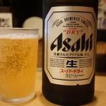 ぎんや - 瓶ビール(500円)