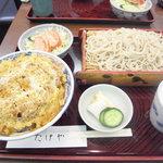 たけや - 蕎麦&カツ丼のセットです!1000円です!