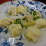 麺恋亭 - ワンタン(M6個、580円)