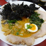 麺恋亭 - 岩のり豚骨タンタン叉焼麺(ご飯物付き、990円)