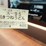 41331424 - 大判きつねうどん ¥490(食券)