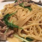 ビストロ ボン・グー・コクブ - 水菜と肉のパスタ