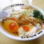麺屋 ようすけ - 201508ラーメン(半ラーメン)¥500 +煮玉子¥100