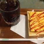 珈琲館亜矢 - タマゴオントーストとコーヒー