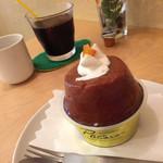 コラージュ - 男のサバラン & アイスコーヒー