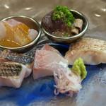 久米川  絹 - お造り盛り合わせ 5種